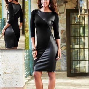 Ladies VENUS color block dress